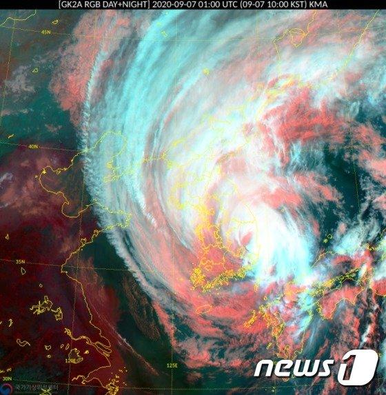 台風 10 号 韓国